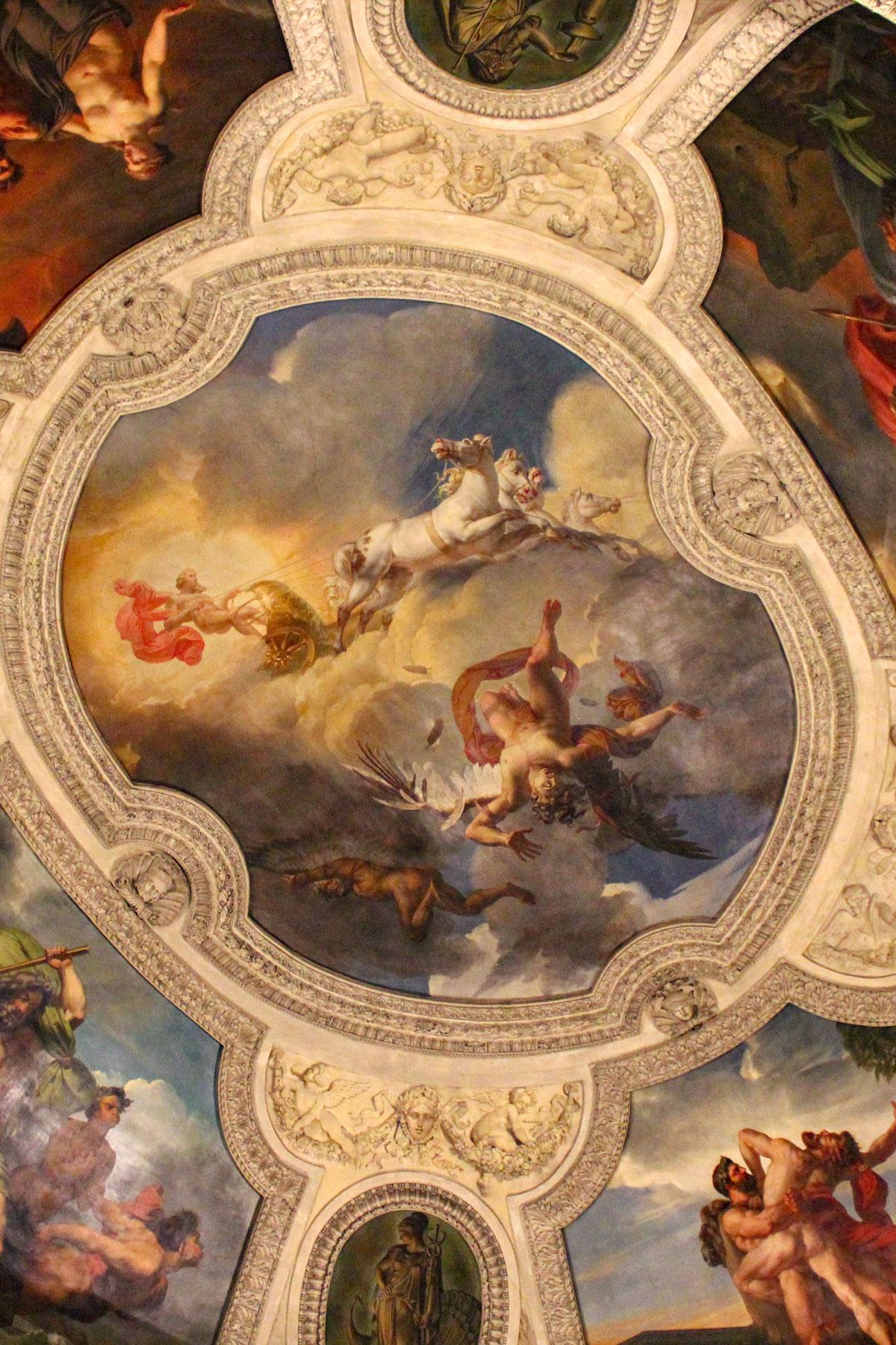 Deckenmalerei im Louvre